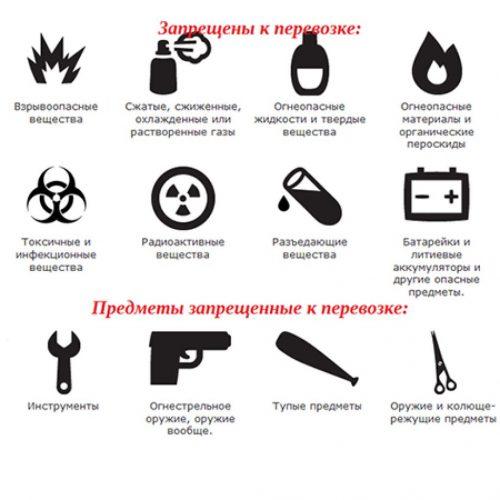 Запрещённые предметы