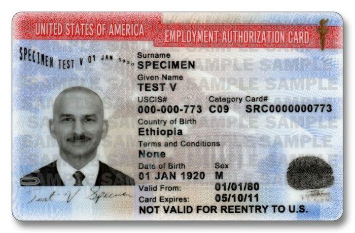 Разрешение на работу (ЕАD)