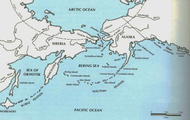Аляска на карте