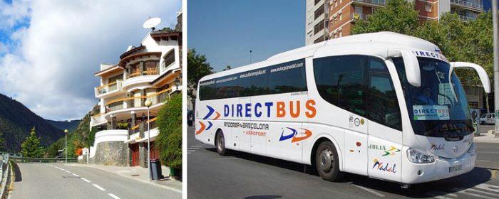 Автобус из Барселоны в Андорру