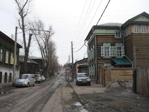Частный сектор в Иркутске