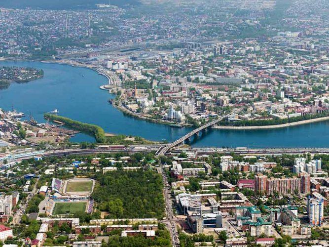 Панорама города Иркутска