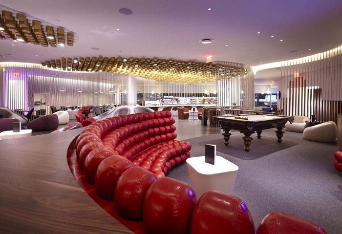 Лаунж-зона авиакомпании Virgin Atlantic