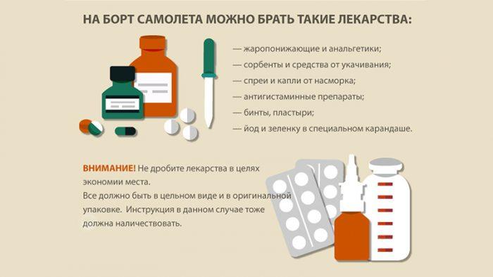 Какие лекарства можно провозить в ручной клади