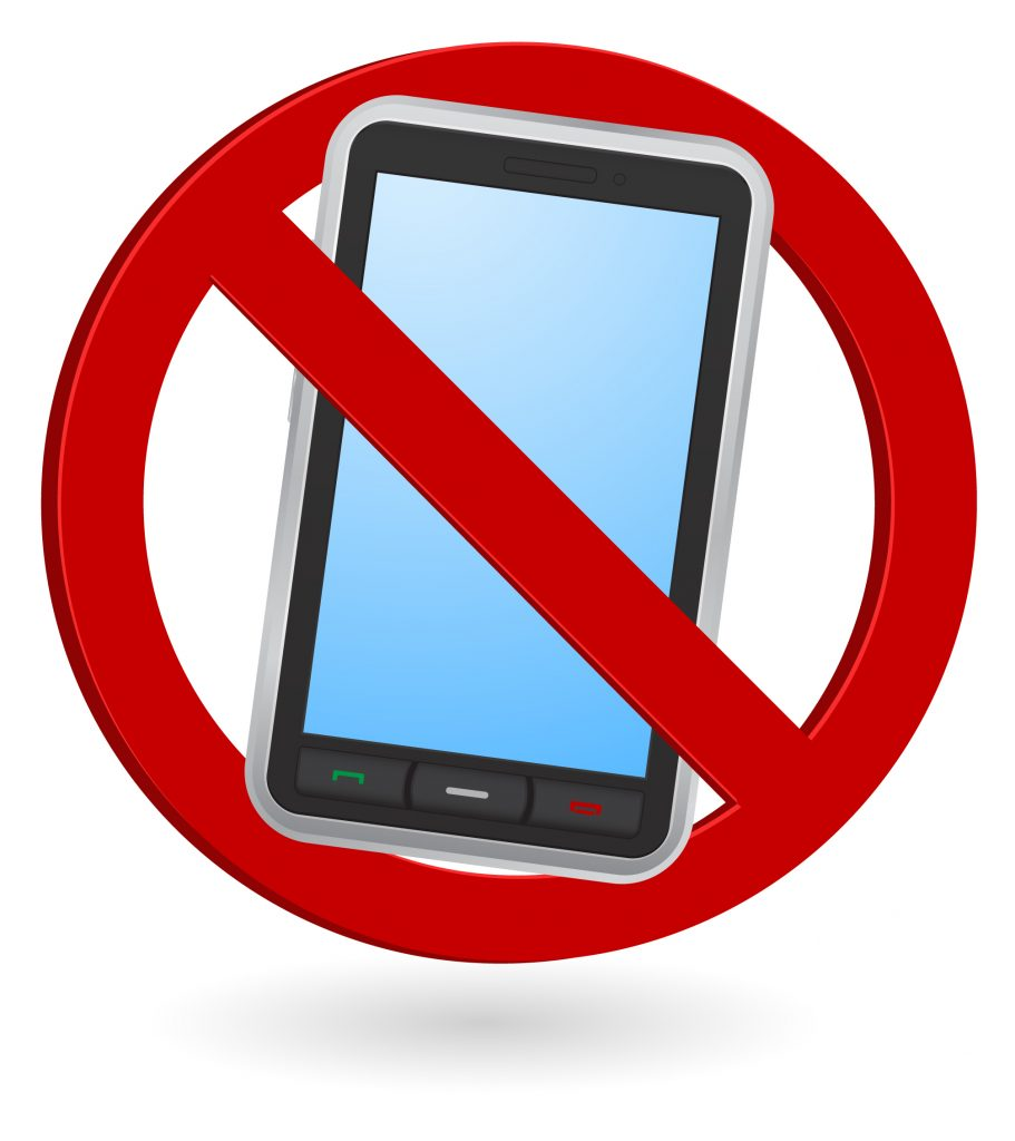Знак запрещающий смартфон