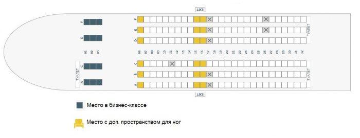 Схема салона FlyDubai