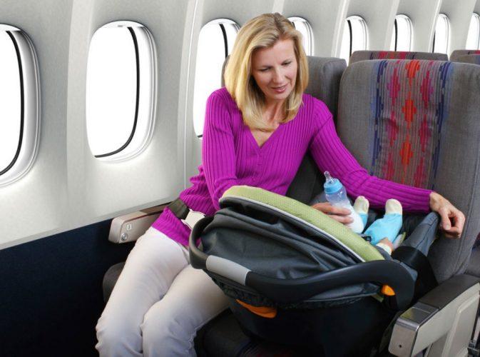 Автокресло на борту самолета