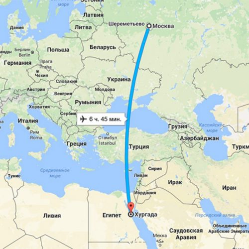 Сколько лететь до Египта