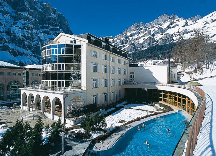 Спа-центр курорта Бад-Рагац. Швейцария