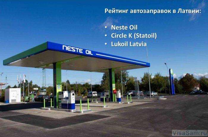 Рейтинг автозаправок Латвии