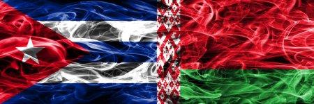 Флаги Кубы и Белорусии