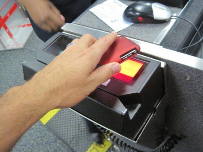 Считывание информации специальным терминалом