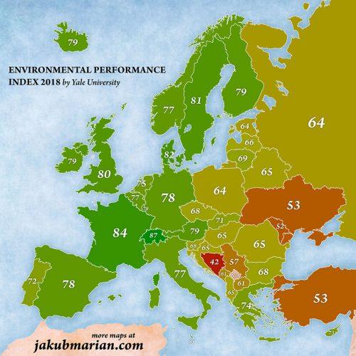 Карта экологической эффективности в 2018 г.