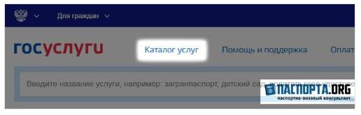 Фрагмент сайта Госуслуги
