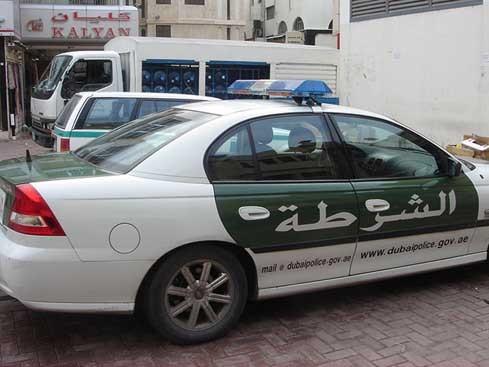 Полицейская машина в ОАЭ