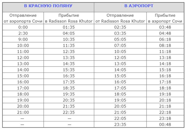 расписание автобусы