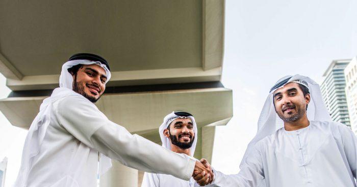 Рукопожатие между арабами