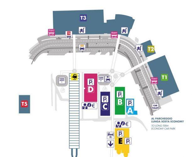 Схема аэропорта Фьюмичино