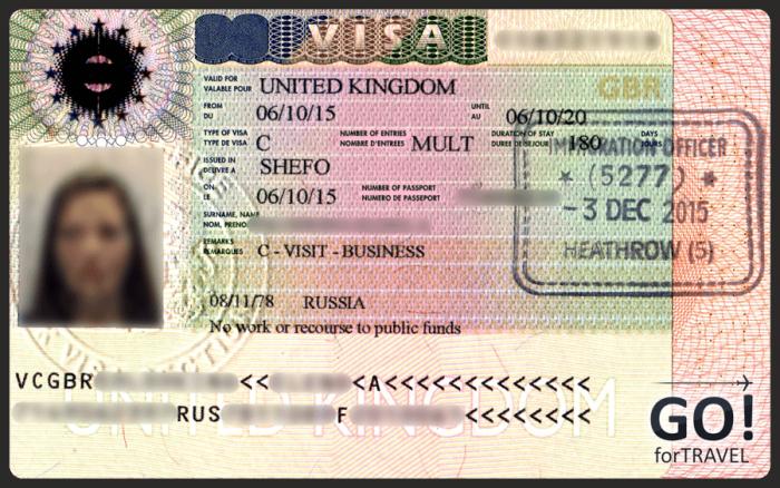 бизнес виза в Великобританию