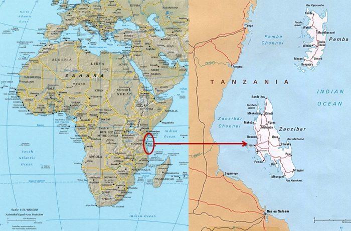 Где находится остров Занзибар