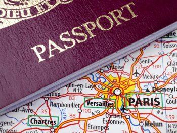 Париж на карте Франции