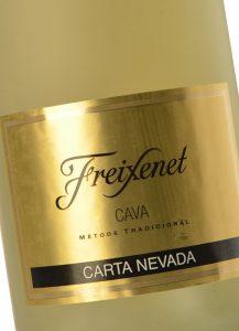 Этикетка на бутылке Freixenet