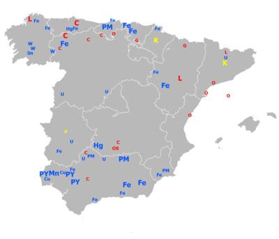 Полезные ископаемые Испании