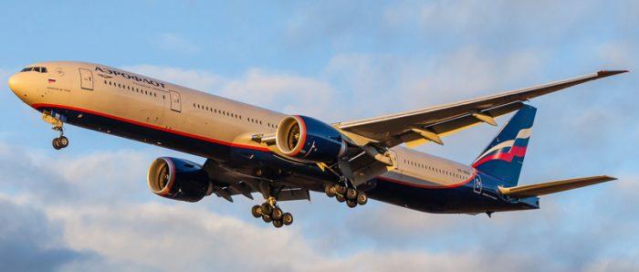 Самолет Боинг 777 компании Аэрофлот