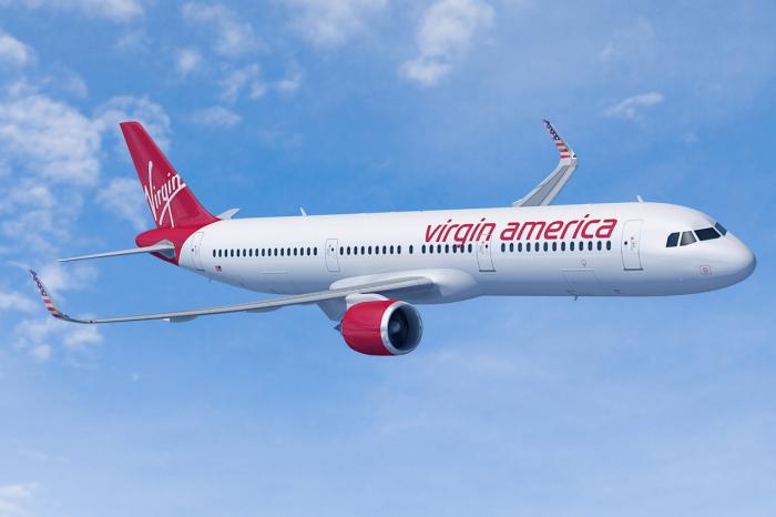 Самолет компании Virgin America