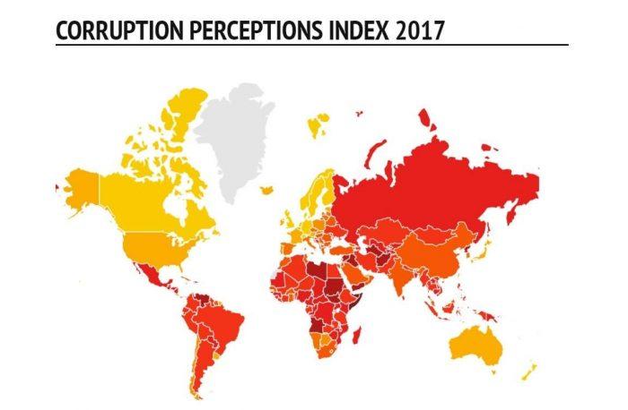 Уровень коррупции в 2017 году