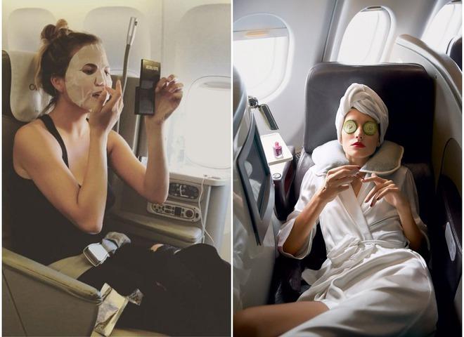 косметика в самолете