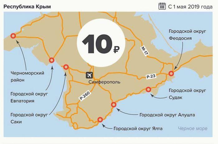 Крым - где введен сбор