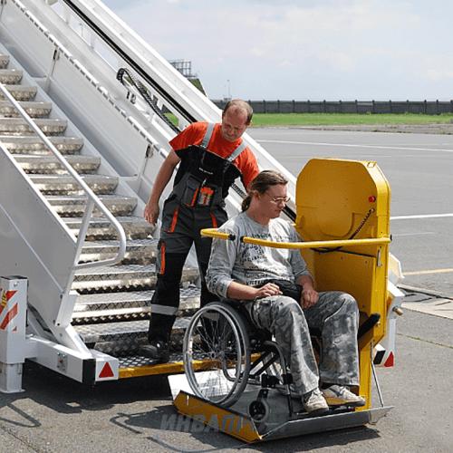 Транспортировка пассажира в инвалидном кресле