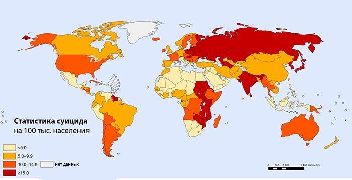 Карта самоубийств