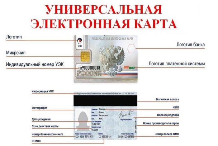 Вариант дизайна универсальной электронной карты