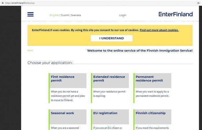 Скриншот сайта EnterFinland