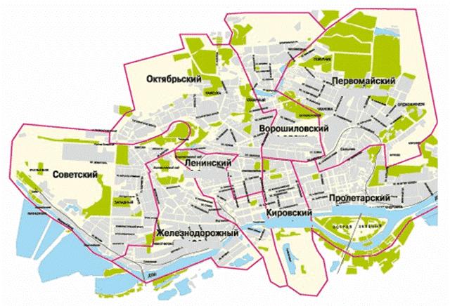 Районы города Ростов-на-Дону