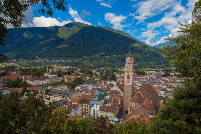 Панорама Мерано, провинция Больцано