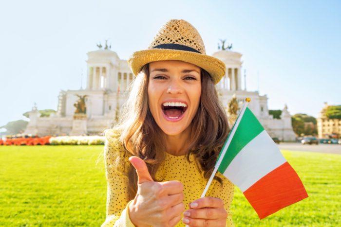 Русская девушка в Италии