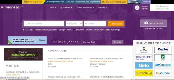 Индийский сайт поиска работы