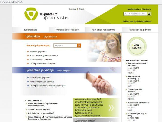 Скриншот сайта te-palvelut