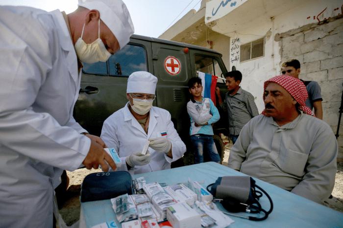 Российские военные врачи в Сирии