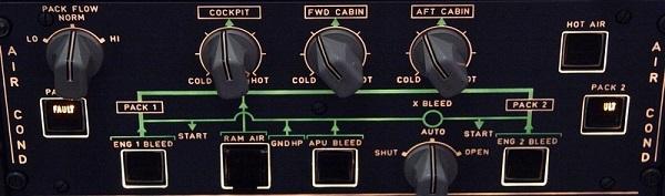 Панель, контролирующая воздух