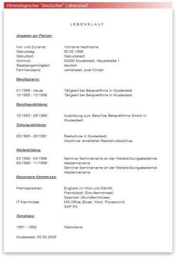 биография на немецком