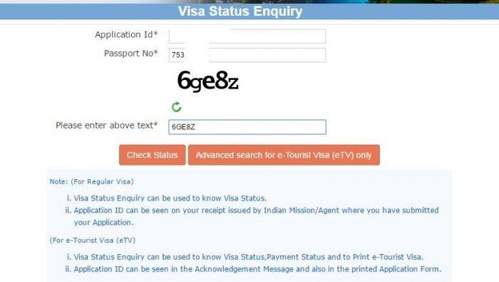 Скриншот сайта indianvisaonline