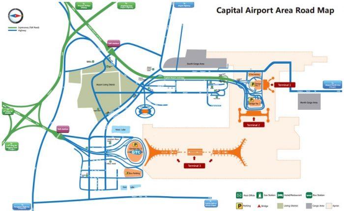 Карта аэропорта Пекина