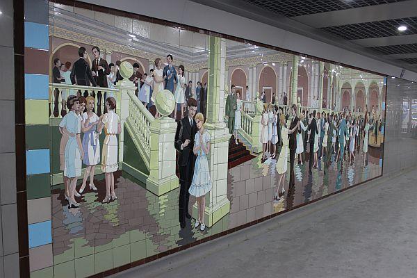 Мозаичное панно в Ростове