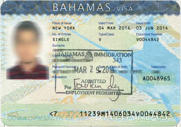 Оформление визы на Багамы для украинцев и белорусов