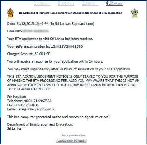Разрешение в системе ЕТА для Шри-Ланки