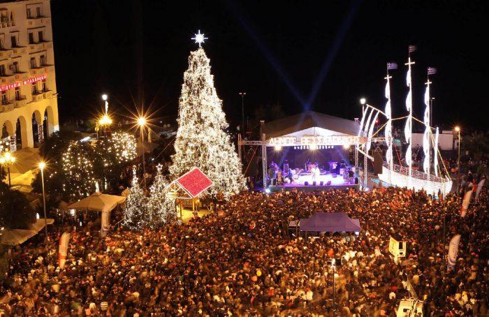 Народные гуляния на Рождество Христово в Салониках
